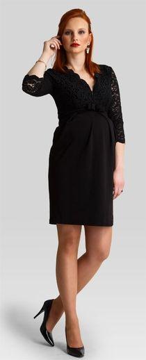 Hypnotic black маленькое черное платье с кружевным верхом для беременных и кормящих