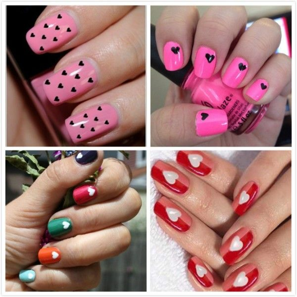 Cute Valentine's Day Nail Art - Find Fun Art Projects to Do at Home and Arts and Crafts Ideas