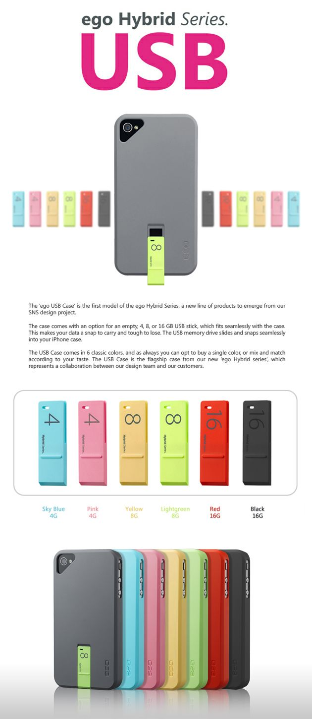 iClarified - Apple News :Ego USB Case for iPhone Holds a Memory Stick By the Ego and Company...only if higher cap