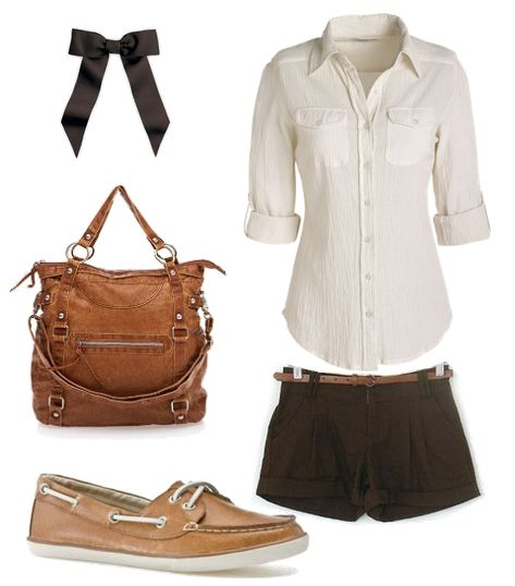 nice.: Fashion, Cheer Hair Bows, Shirts, Boat Shoes, Random Pins, Rock Candy, Outfits With Boats Shoes, Sailing Away, My Style