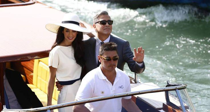 George Clooney e Amal Alamuddin Foto: PIERRE TEYSSOT / AFP