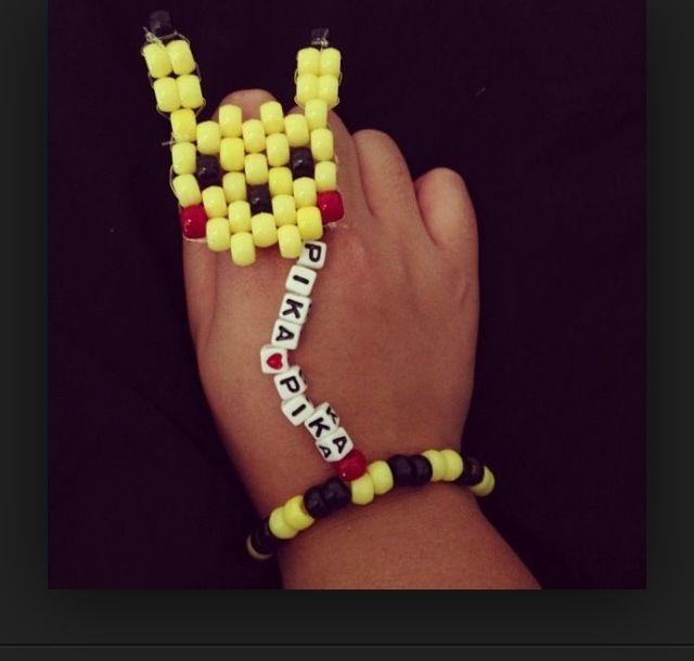 pikachu kandi ring&bracelet