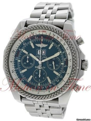 Breitling Bentley 6.75, Blue Dial - Stainless Steel on Bracelet Price On Request