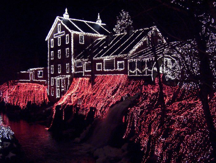Best Christmas Lights in Ohio 1. Clifton Mill (Clifton)
