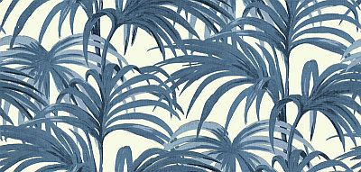 Palmeral Off White/Azure wallpaper by House Of Hackney