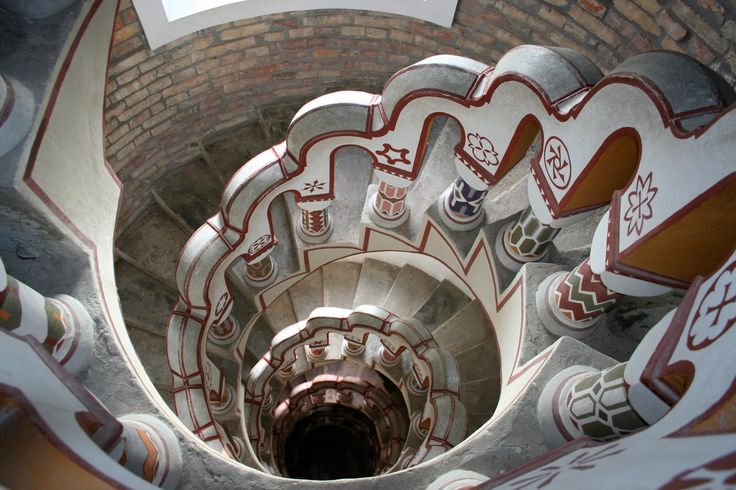 Beautiful staircase in Bory castle (Székesfehérvár, Hungary)