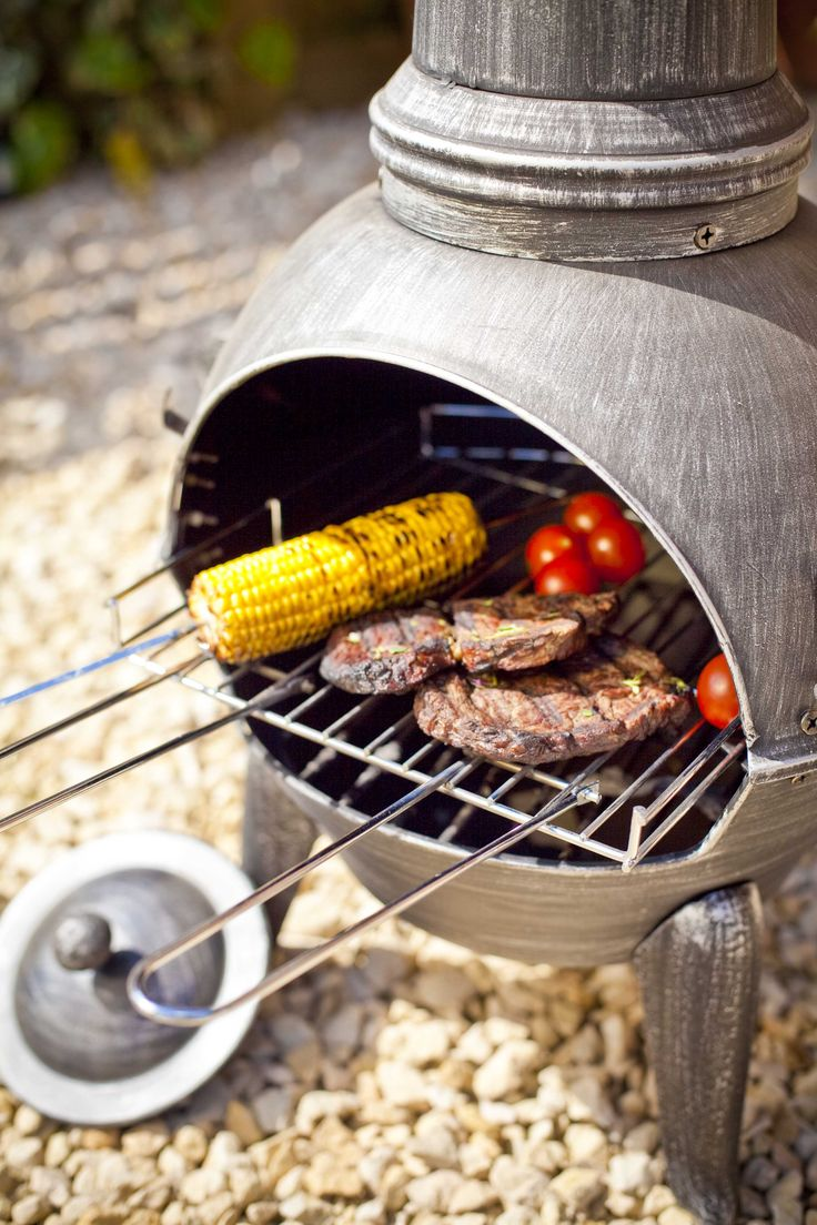 Get grilling on your chimenea #summer #food #grilling #outdoors