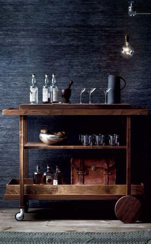 Vatertag Dunkle Tone Glas Und Holz Antiker Kuchenwagen Aus Holz