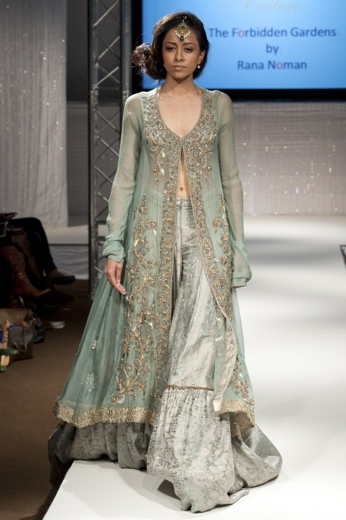 Rana Noman Pakistan Fashion Week - Mint sheer green! Love it
