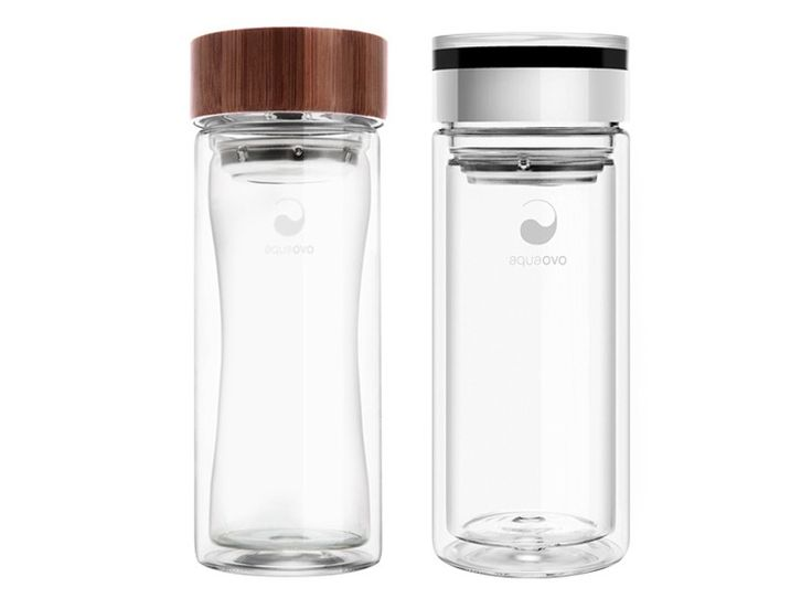 double-walled, Aquaovo, Therm-O Bottle - eco-thermal insulated borosilicate glass