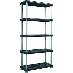 Wickes 5 Tier Heavy Duty Plastic Shelving Unit