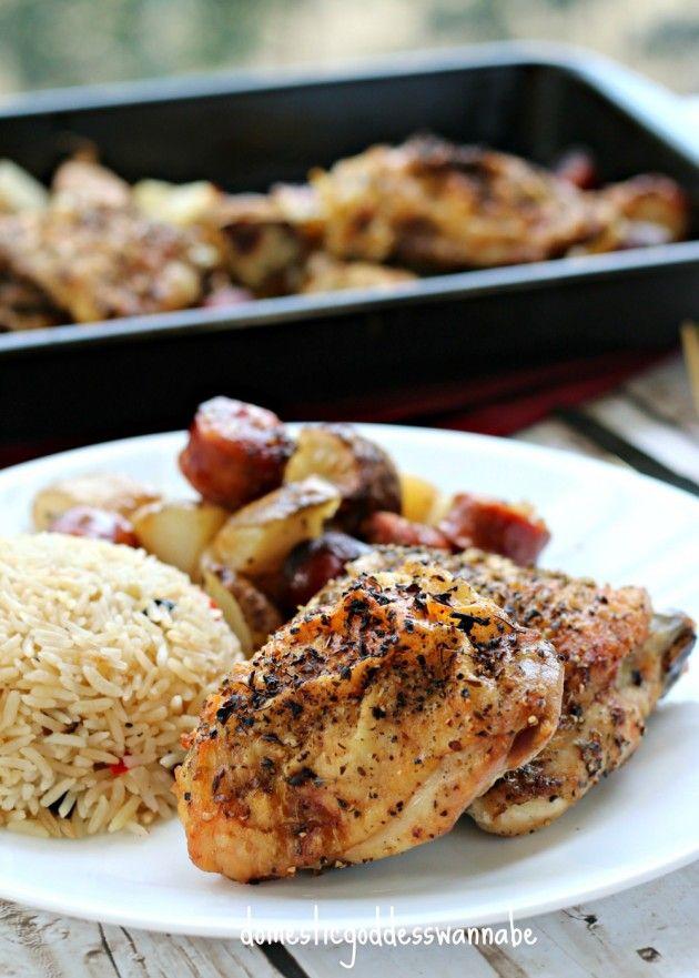 One-Tray Chicken, Chorizo And Potato Bake