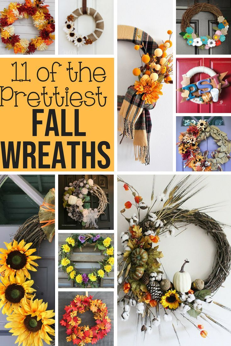 11 Of The Prettiest Fall Wreaths Merry Monday 219 Fall Wreaths