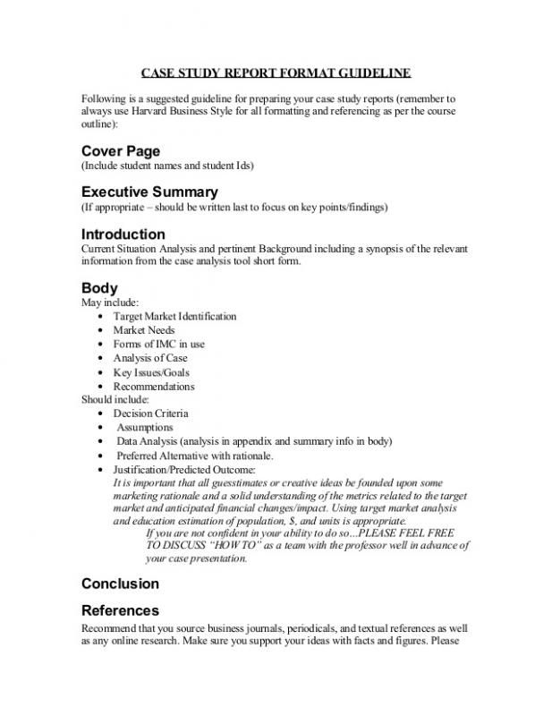 Case Study Format template Pinterest Case study format and