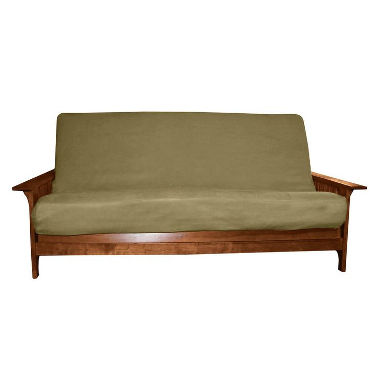 EpicFurnishings Ultima Queen-size Microfiber Futon Cover (Suede - Olive Green - 6 to 8-inches thick)