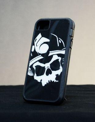 iPhone Tough Xtreme Case- Black Helmet Firefighter Apparel