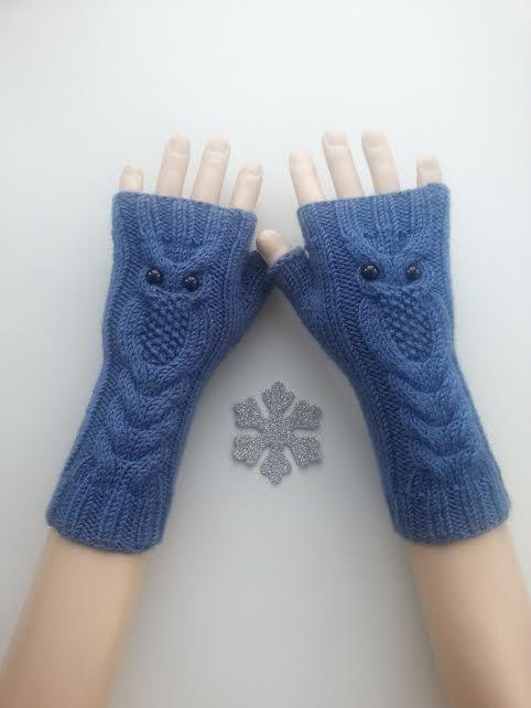 EXPRESS-VERSAND Blaue Eule handgestrickte von ReyyanCrochet auf Etsy