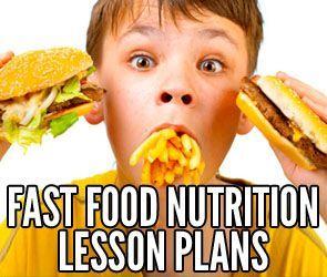 Fast Food Webquest High School