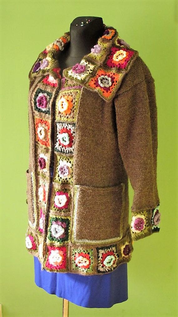 Reserved for Svetlana Crochet Cardigan Handmade