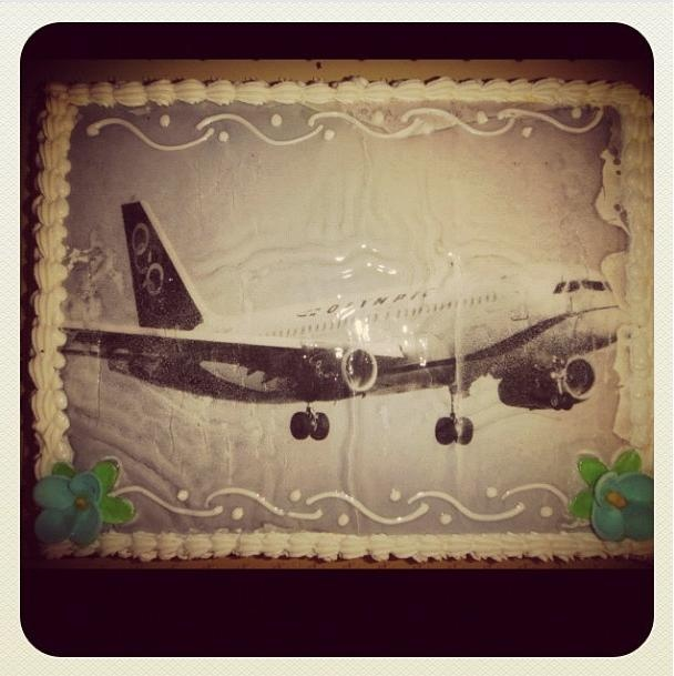 Olympic Air birthday cake
