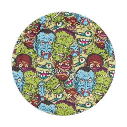#Halloween Monster Mash Paper Plate - #Halloween happy halloween #festival #party #holiday