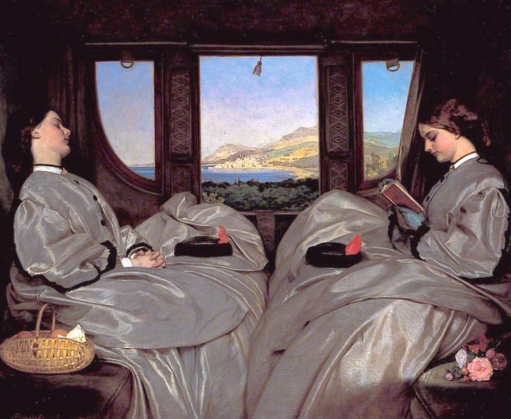 Readers reading #6 The Travelling Companions (1862) – By Augustus Egg (1816 –1863). Birmingham Museum & Art Gallery. Oil on canvas. 65.3 x 78.7 cm What strikes me most is that the two you…