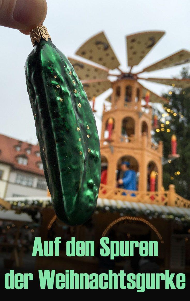 """Weißt Du woher unsere Weihnachtsbräuche stammen? Den  Ursprung haben viele Weihnachtsbräuche in Thüringen, so auch die """"Weihnachtsgurke"""". Hintergründe und Reisetipps für die Weihnachtszeit im umfangreichen Blogbeitrag! #deinthüringen"""