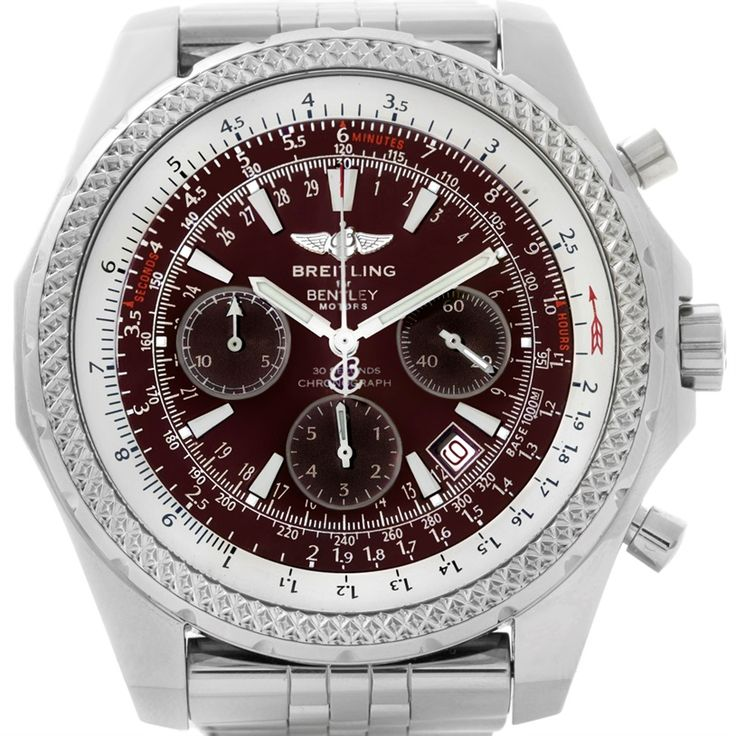 Breitling Bentley Motors Burgundy Dial Chronograph Mens Watch A25362