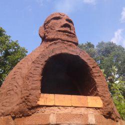Moai inspired oven.