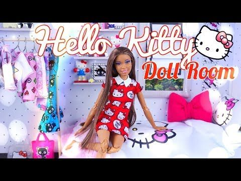 (4) DIY - How to Make: Hello Kitty Doll Room | Bed | Bedding | Shelving & More - YouTube