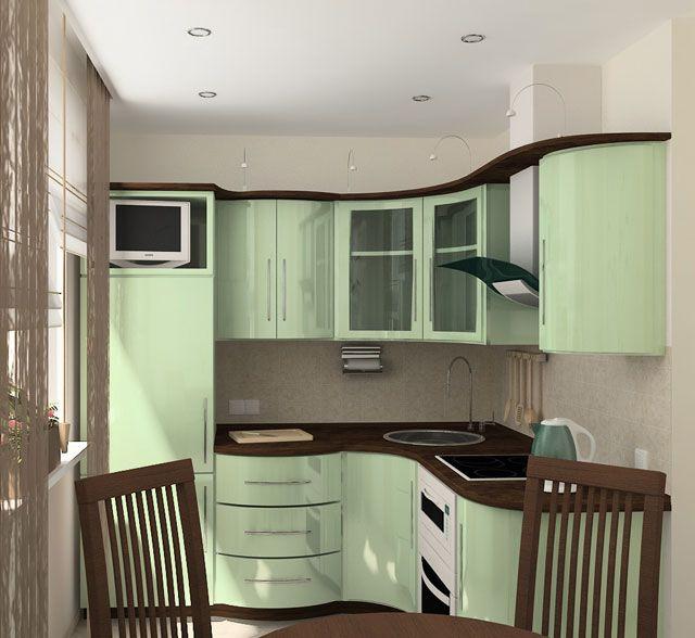 Современный дизайн кухни хрущёвки