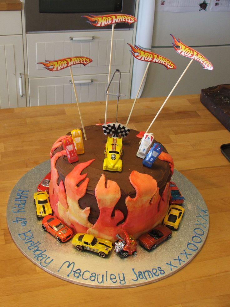 Hot Wheels 4 year old Birthday Cake