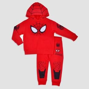Every superhero needs a warm-up outfit. The Spider-Man® Hoodie and Pants Set is equally great for outdoor activities or for lounging around the house. The cool design features spiderweb and spider logo design, reinforced knee pads, and iconic mask eyes on the chest. So whether he's fighting crime or fighting for more TV time, he'll always be comfortable.