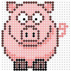 Cute pig perler bead pattern