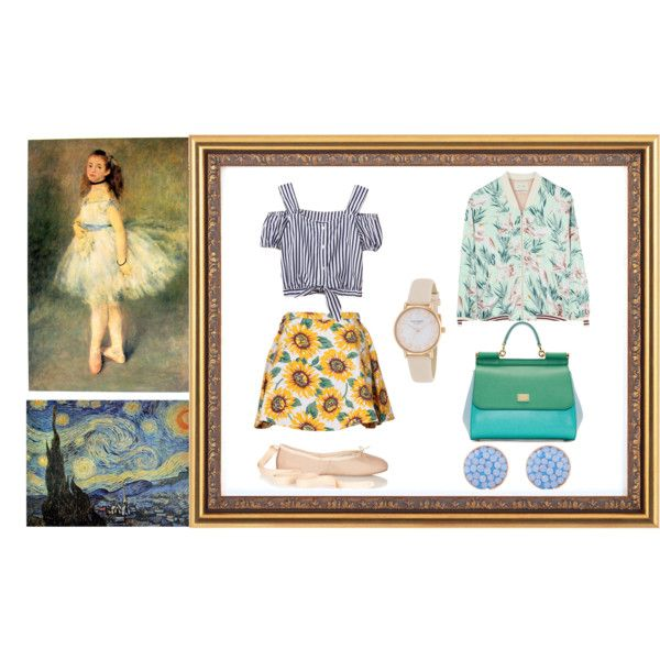 Impressionism by sarahohbaby on Polyvore featuring Maison Scotch, Ballet Beautiful, Dolce&Gabbana, Kate Spade, Henri Bendel and Auguste