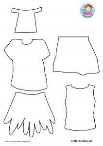 kleding voor kids uit Afrika knutselen, kleuteridee, free printable craft kids clothes, kindergarten and preschool 2