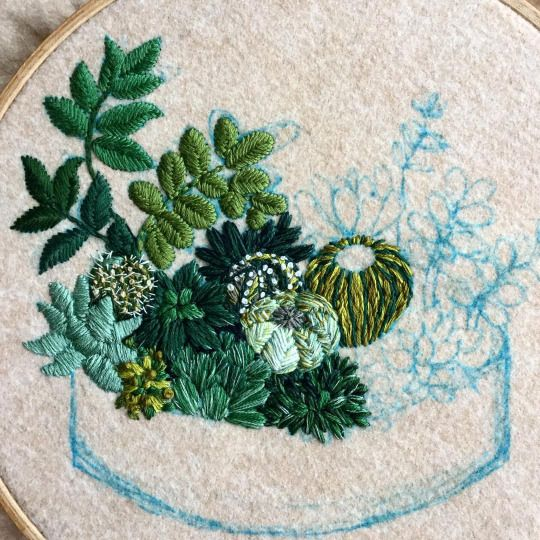 Best cactus embroidery ideas on pinterest