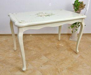 Stół w Stylu Prowansalskim Kwiaty Shabby Chic