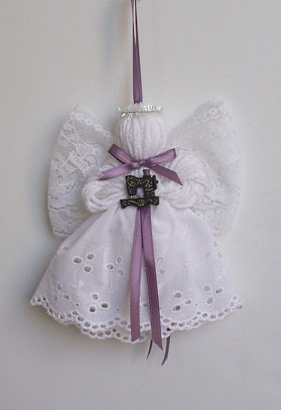 Antique Sewing Machine Lace and Yarn Angel by timelesstradition