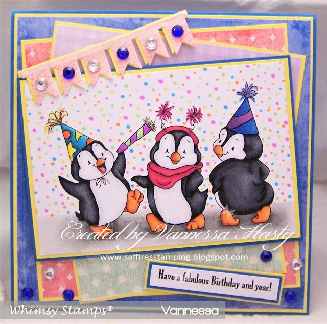 Saffire's Stamping: Whimsy Stamps Inspiration Post Penguin Party