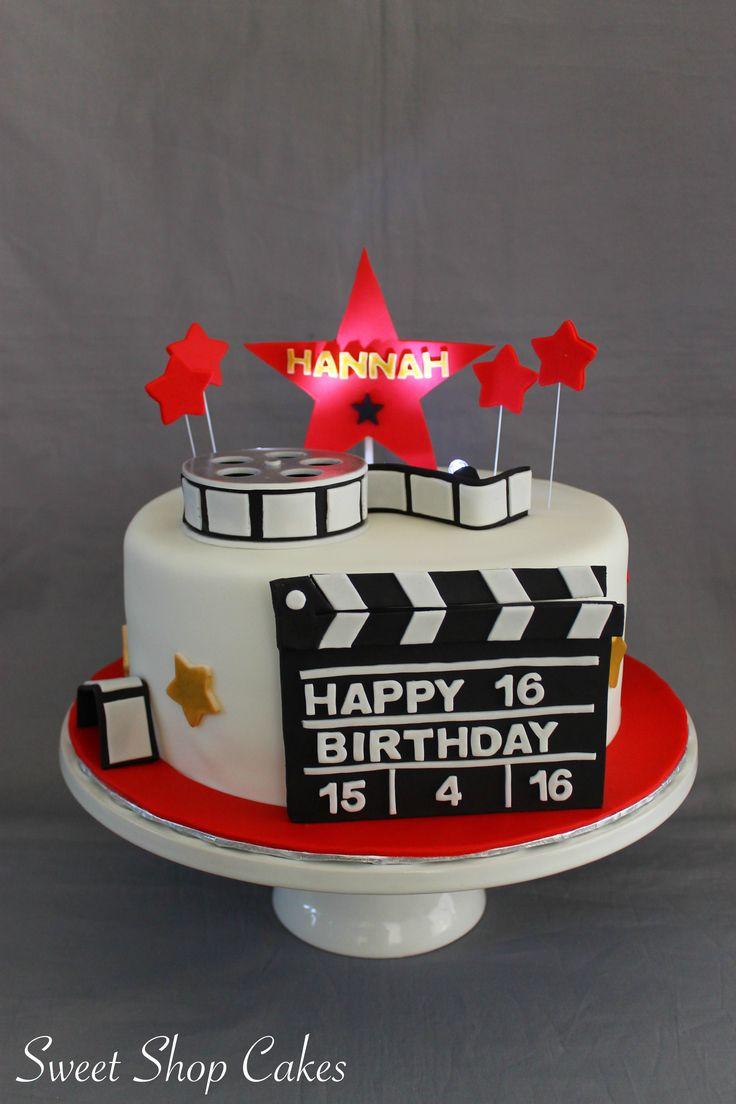 Hollywood themed birthday cake