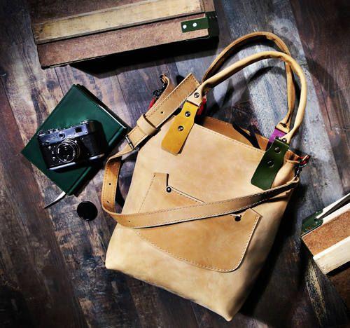 Women's Handbag Leather handbag Creamy color Handbag