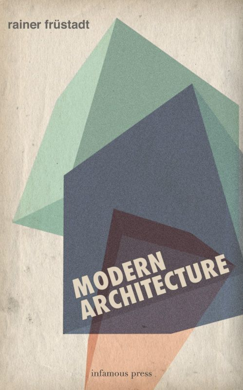 architecture book from infamous press: vintage book cover