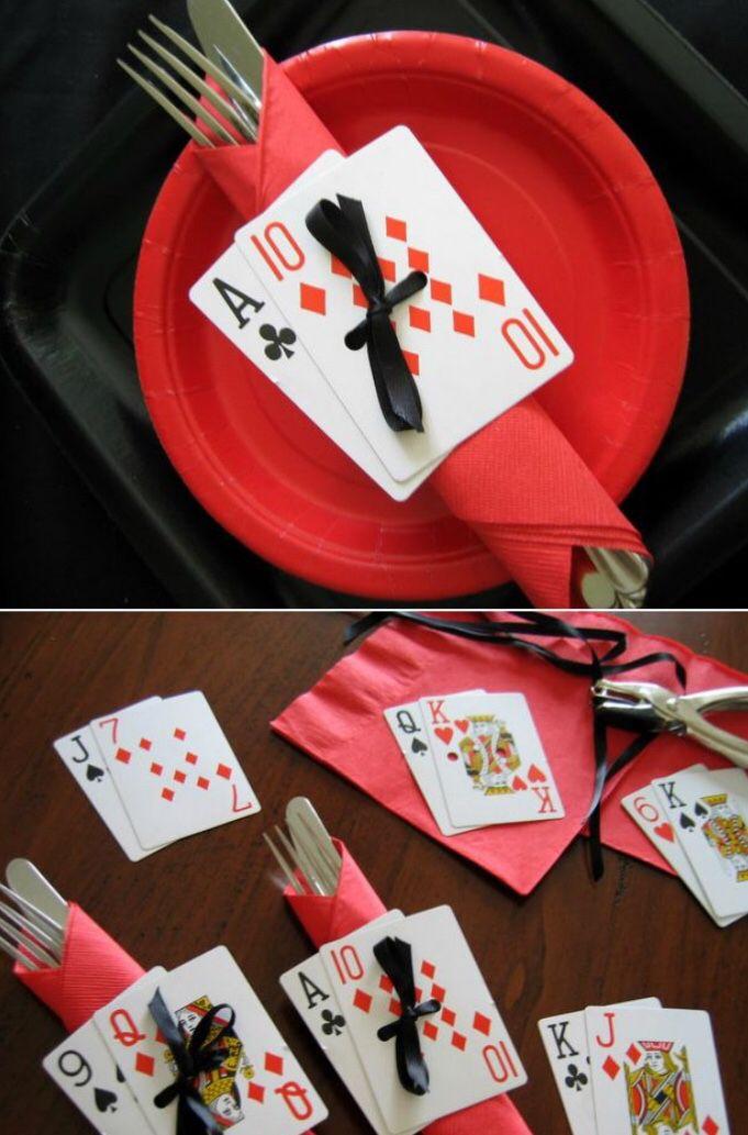 Napkin card holder
