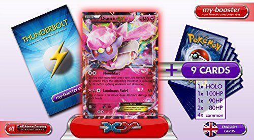 DIANCIE EX XY43 (PROMO) 140HP XY05 Primal Clash – Booster optimisé ATTAQUE ECLAIR de 10 cartes pokemon Anglaises: Booster de 10 cartes…
