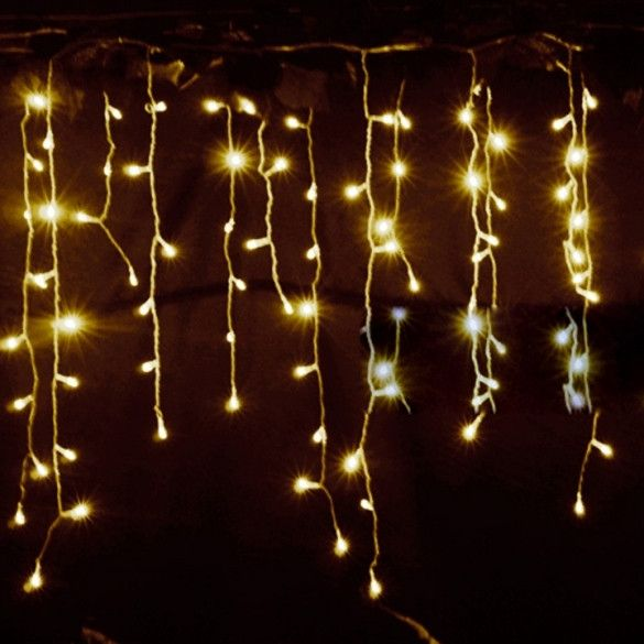 3 5m Droop  5m Eu Plug Curtain Icicle String Lights 220v New Year Christmas Led Lights Garden Xmas Wedding Party In 2018 Shoppers Paradise