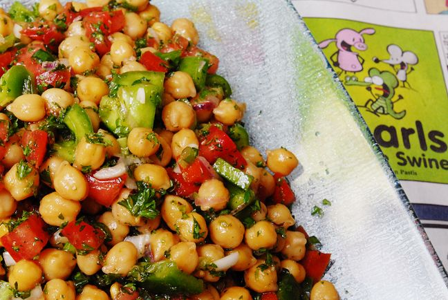 Chickpea Salad-a cold dish for a hot day