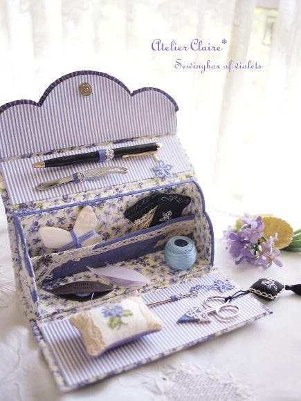 Sewingbox of violets完成しました♪の画像:Claire Diary