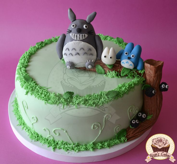 Torta de Totoro!  #Totoro #Fondant #Cake  =)
