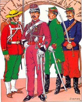 The Mexican Adventure: Uniforms: Mexican Imperial Troops Corporal, Line Infantry  Colonel, Empress Lancers  Lieutenant, General Staff Corps  Trooper, Mounted Rifles